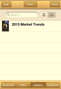 iBooks menu image